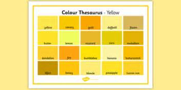 color thesaurus colour thesaurus word mat yellow colour thesaurus colour