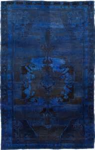 navy overdyed rug indigo beautiful