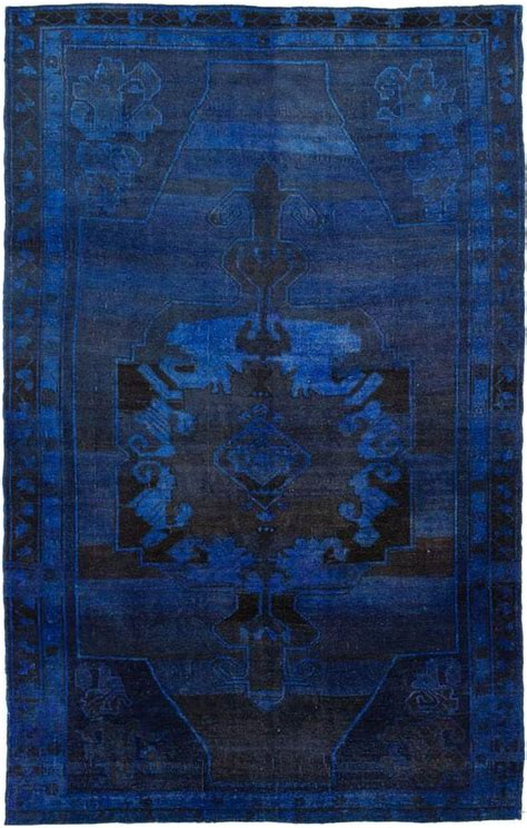 Blue Overdyed Rug by Indigo Blue Navy Dyed Rug Blue Indigo