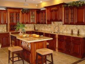 exceptional Cleaning Kitchen Cabinets With Vinegar #8: Rustic-Cherry-Kitchen-Cabinets-Ideas.jpg