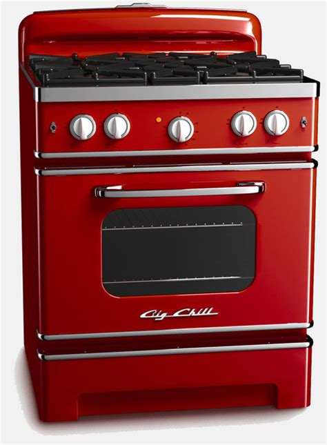 red kitchen appliances big chill retro stove cherry red big chill