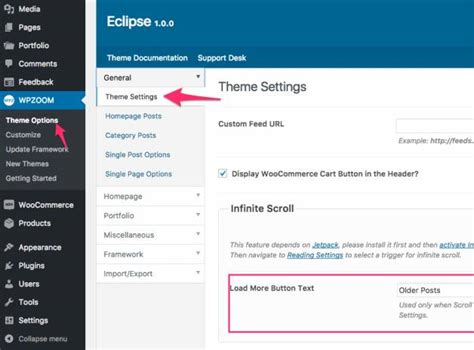 eclipse theme options eclipse review photography theme wpzoom truth
