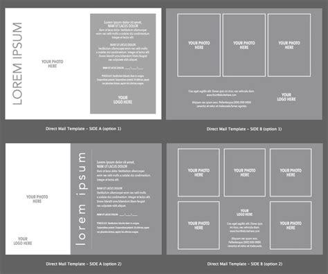 Postcard Direct Mail Design Template 2 Design Options For Adobe I Adobe Postcard Template