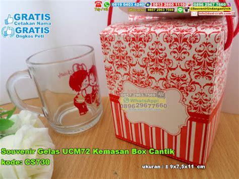 Aster Souvenir Pernikahan Mangkok Cantik Di Kemas Tas Kecil souvenir gelas ucm72 kemasan box cantik souvenir pernikahan
