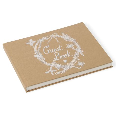 Wedding Guest Book by Kraft Wedding Guest Book Paperchase