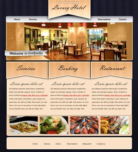 web layout for restaurant web design tutorial 30 awesome layouts in photoshop