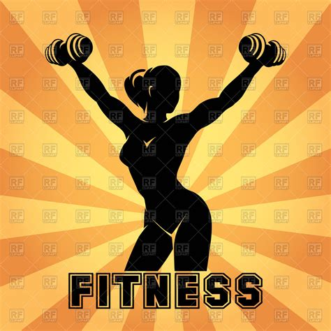 imagenes fitness gratis fitness club and gym emblem with strong woman royalty free