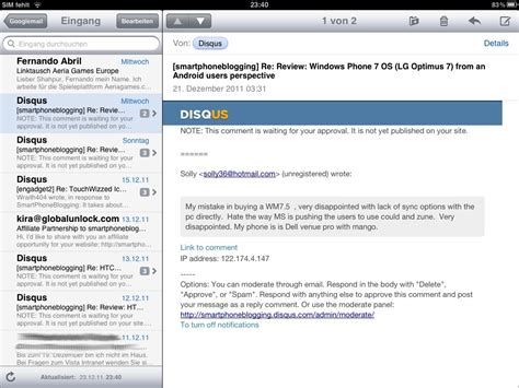 email layout on ipad review the apple ipad and ios experience from an android
