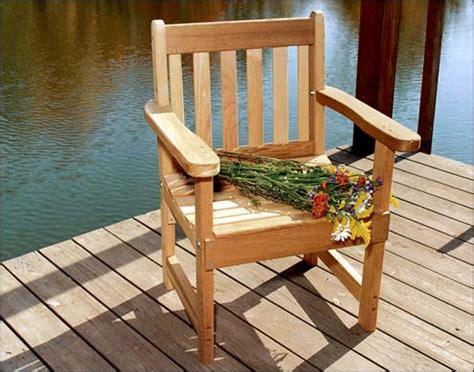 cedar patio chair plans  woodworking
