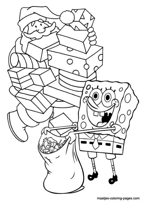 spongebob squarepants christmas coloring pages
