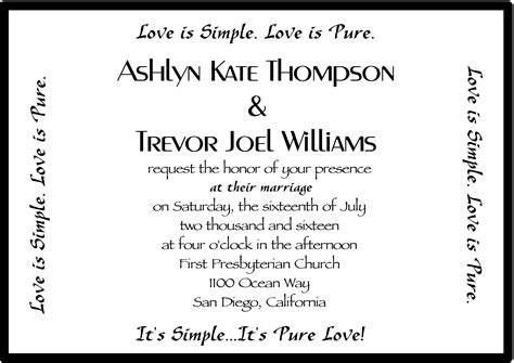 Simple Wedding Invitation Sles by Words On Wedding Invitation Wedding Invitation Ideas