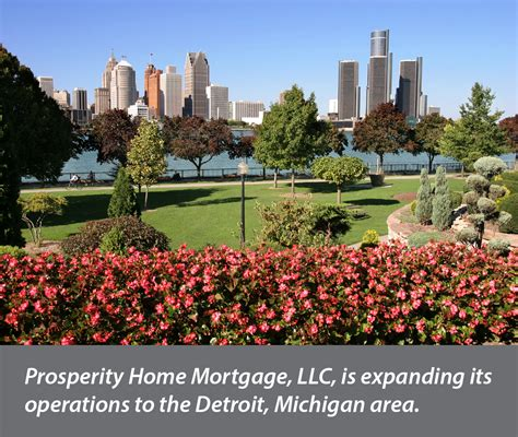 prosperity home mortgage now operating in detroit