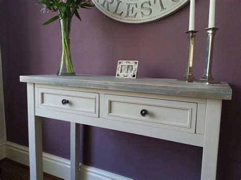Grey Vanity Table Contemporary Grey Console Vanity Table Home Furniture Wood 2 Drawers Ebay