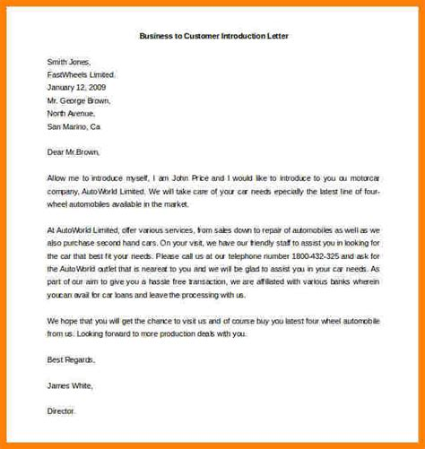 Introduction Letter For New Business Sle business letter to customer 28 images sle business