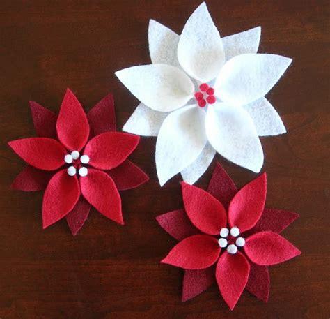 pattern for paper poinsettia felt poinsettia christmas ornament felt ornaments and