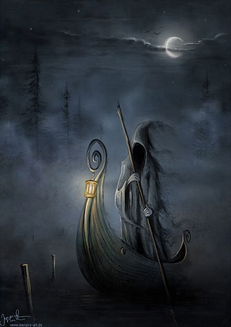 ferry boat river styx charon the ferry man aka the grim reaper
