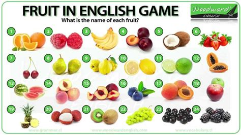 8 fruits name fruit vocabulary quiz