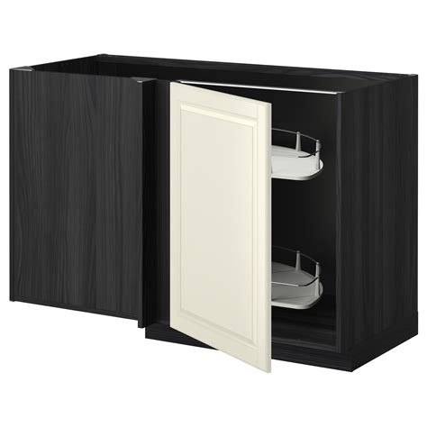 Corner Base Cabinet Pull Out by Metod Corner Base Cab W Pull Out Fitting Black Bodbyn