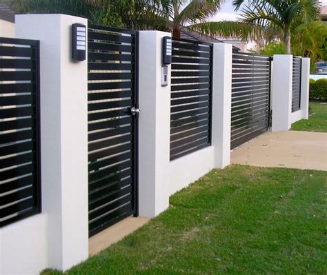 modern wall fence design 60 gorgeous fence ideas and designs renoguide