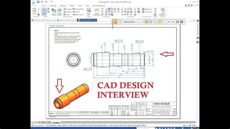 design engineer interview design engineer interview cad tool test youtube