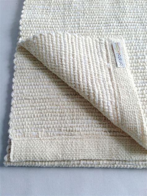 cotton woven table runner white sand