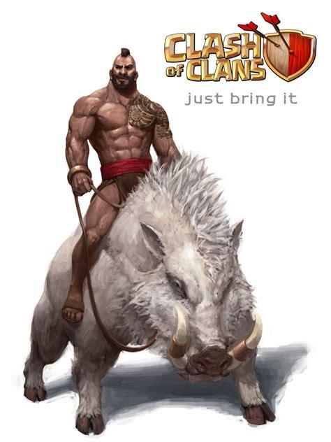 Clash of clans hog rider    Pinteres