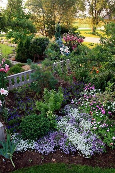 white cottage gardens cottage garden lovely waves of purple white and pink