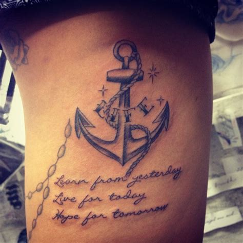 qoute tattoos for men anchor tattoos with quotes quotesgram