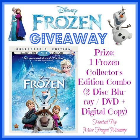 Frozen Giveaways - disney frozen giveaway 1 frozen collector s edition combo blu ray dvd digital