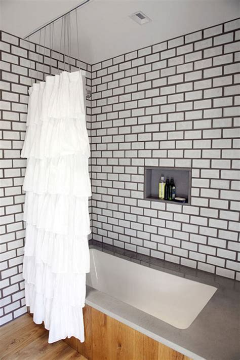 White Grout In Shower by White And Grey Subway Tile Designs Furnitureteams