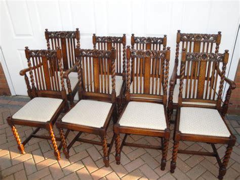 Antique Oak Dining Chairs For Sale Antique Oak Chairs For Sale Set 6 Oak T Back Dining Chairs W Curved Legs Southwest For