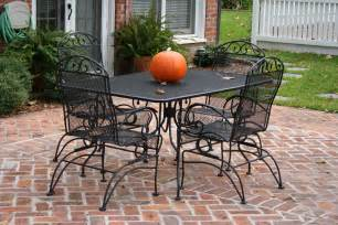 Wrought iron quot patio furniture set like this