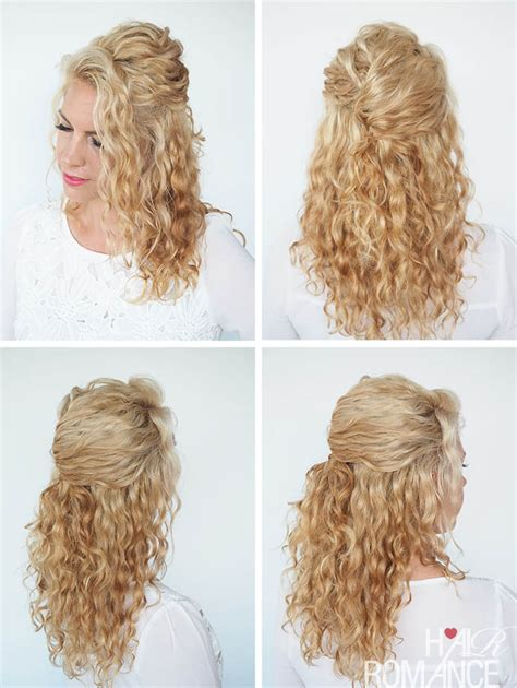 quick and easy hairstyles for curly hair for tweens 30 curly hairstyles in 30 days day 6 hair romance