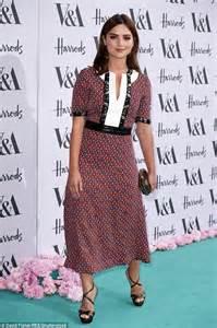 Janna Dress coleman wears a tea dress as she attends