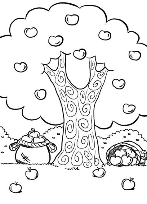 coloring pages apple tree free coloring pages of apple tree