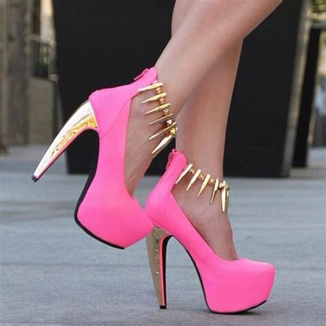 new spike ankle high heel