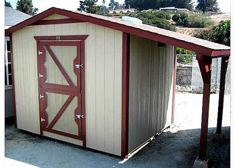 8x10 Sheds by California Custom Sheds 8x10 Peak Roof