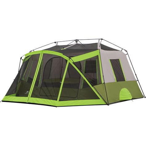 ozark trail 12 person instant cabin tent with screen room ozark trail 9 person 2 room instant cabin tent with screen large family tent with screen room