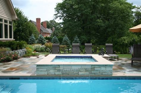 pools with spas lake forest classic rectangular pool with spa