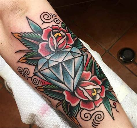 diamond tattoo neo traditional top 25 chic diamond tattoos best tattoos for 2018 ideas
