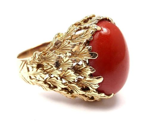 and co coral yellow gold ring at 1stdibs