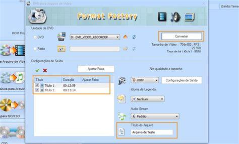 Format Factory Converter Quais Formatos | format factory como converter o conte 250 do de dvds para