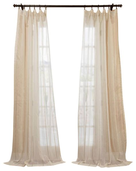 natural linen curtains essex natural linen blend stripe sheer curtain