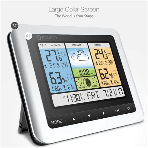 digoo dg th8888pro color wireless weather station home