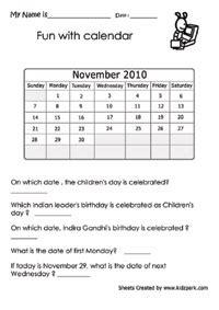 Calendario Worksheet Calendar Worksheets Activity Sheets For