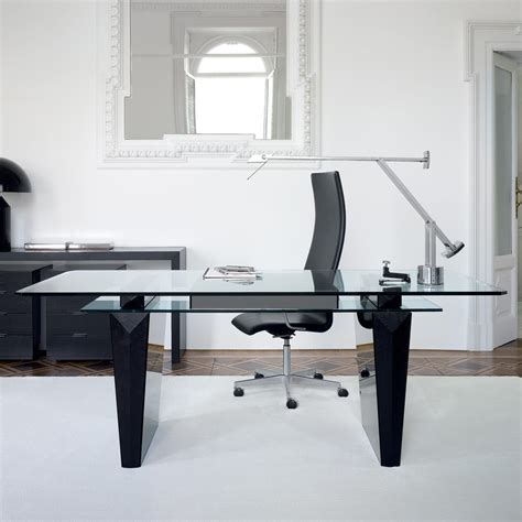 Modern Glass Office Desk Modern Glass Office Desk Www Pixshark Images