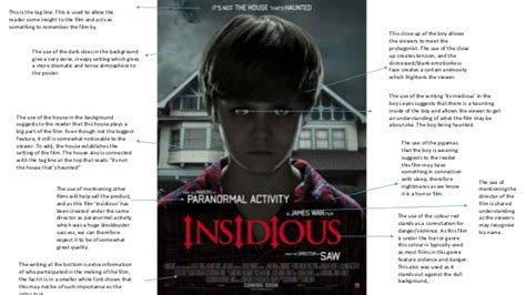 insidious film trailer analysis synergy between trailer poster cover