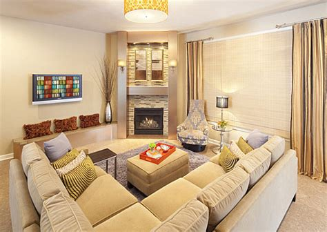 Living Room Sectional Placement Sleek Corner Fireplaces With Modern Flair