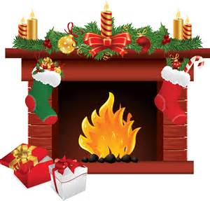render noel cheminee bougies cadeaux chaussettes