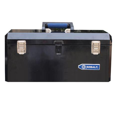 tool box shop kobalt portable 20 6 in black steel lockable tool box